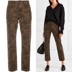 Alexander Wang Leopard High Rise Jeans